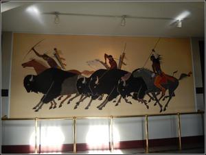 Kiowa Buffalo Hunt Mural.JPG