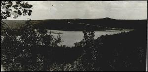 Long-distane Shot of lake in Cookson Hills 1938.jpg
