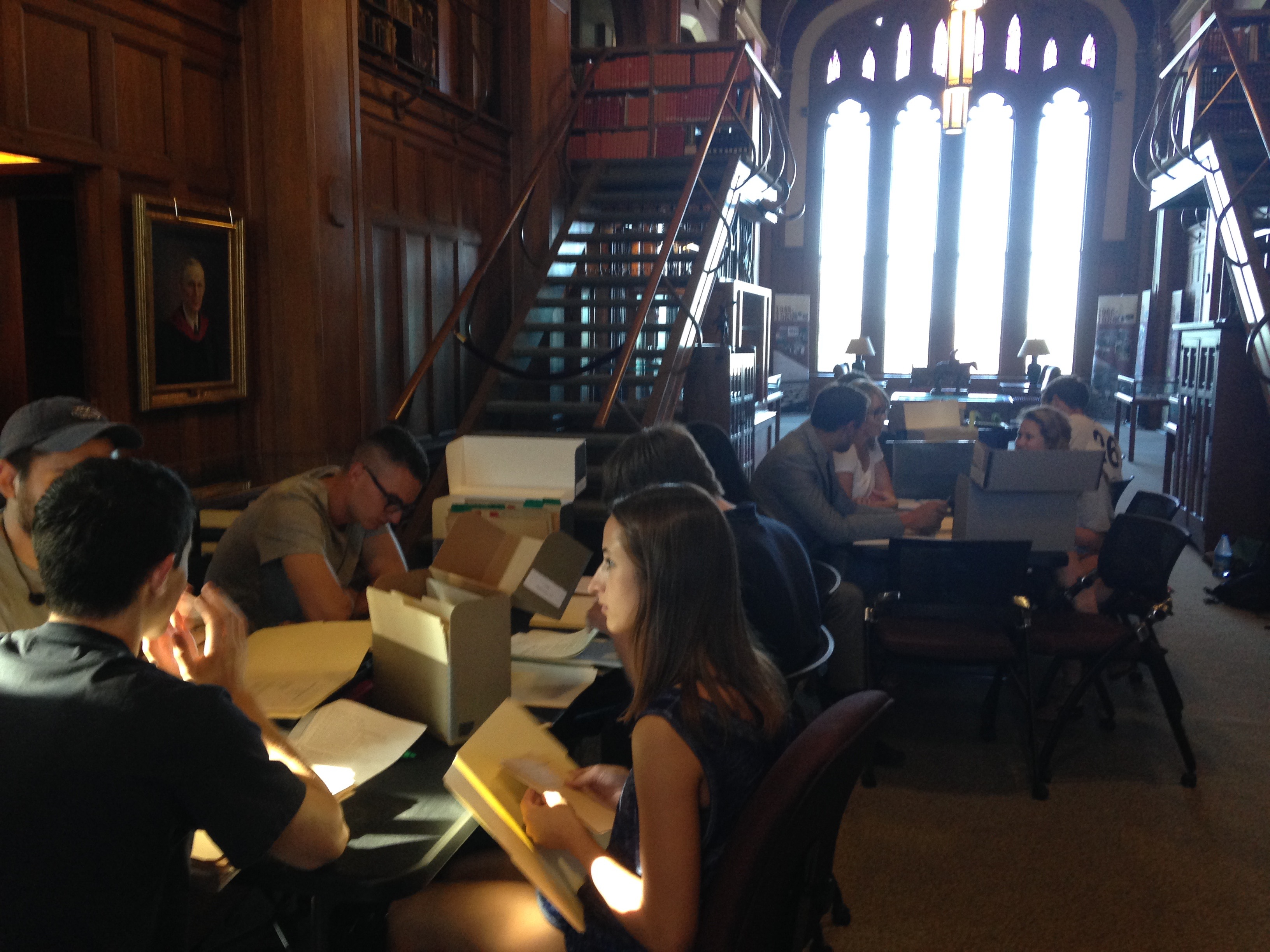 Students researching at Western History Collections