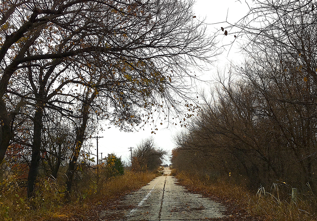 Photograph of abandonded highway